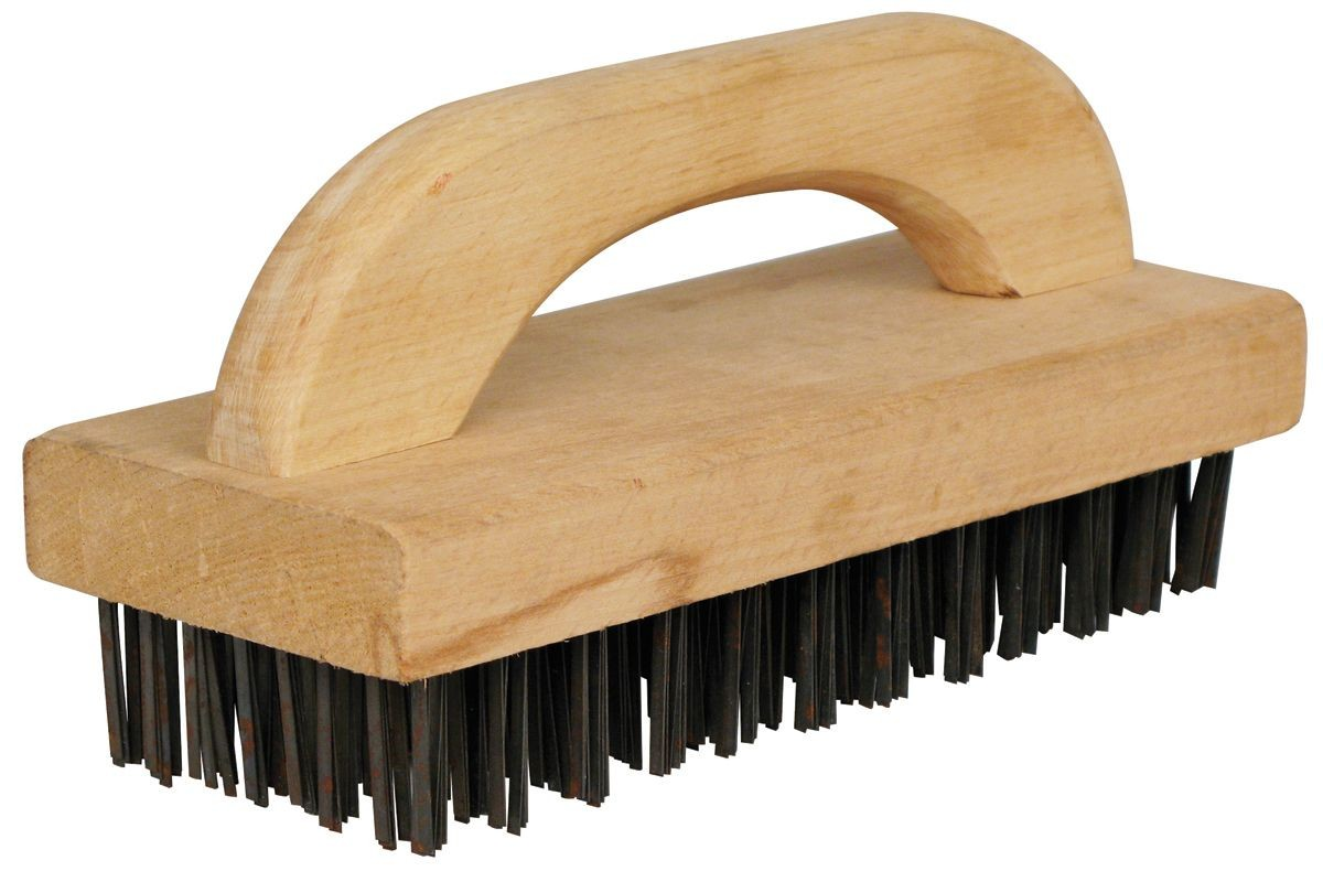 Winco BR-9 Butcher Block Brush with Wood Handle