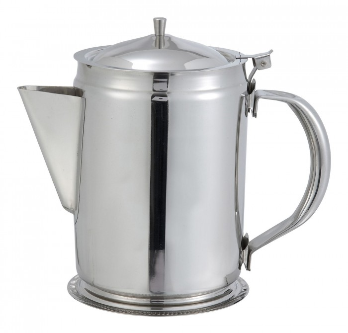 Winco BS-64 Stainless Steel Beverage Server with Cover 64 oz.
