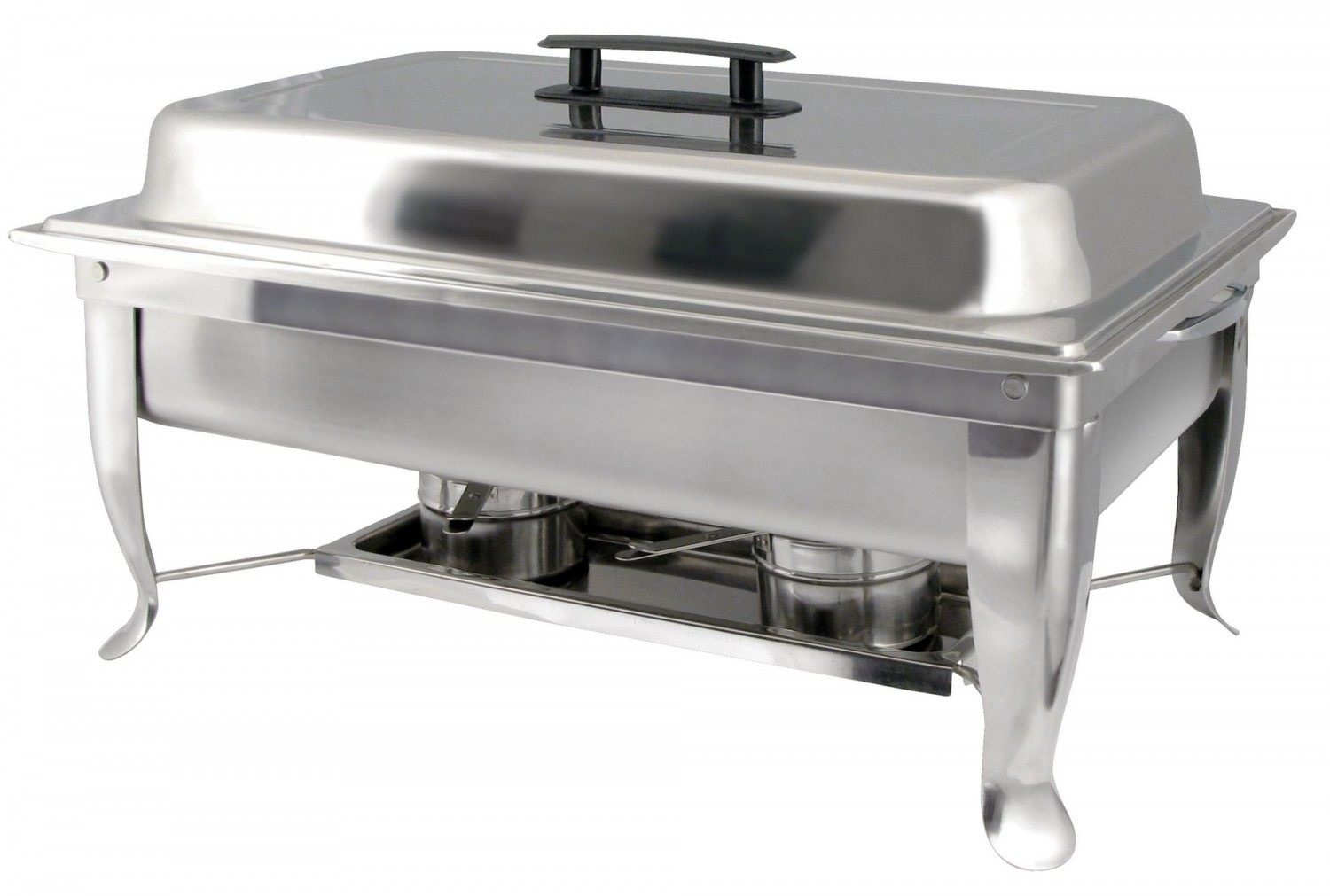 Winco C-1080 Bellaire Stainless Steel Full-Size Foldable Chafer Set 8 Qt.
