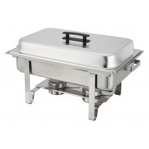 Winco C-3080B Newburg Oblong Stainless Steel Chafer 8 Qt.