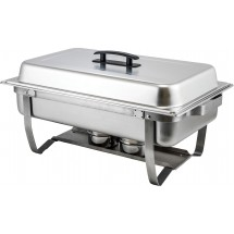 Winco C-4080 Full-Size Stainless Steel Chafer with Folding Stand 8 Qt.