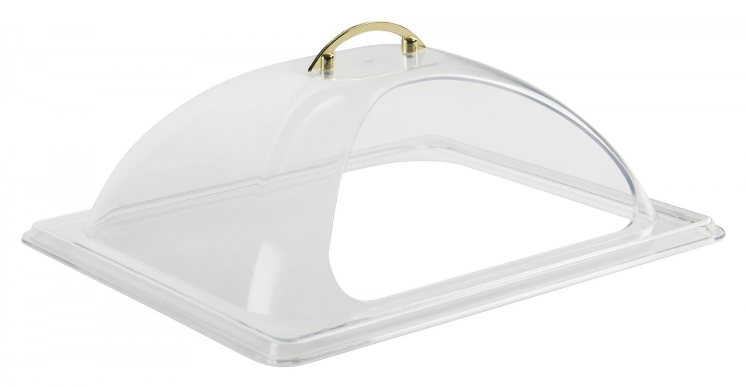 Winco C-DPF2 Half Size Polycarbonate Dome Cover with Side Cut