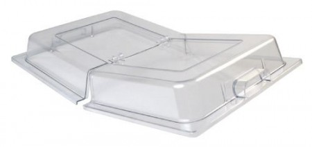 Winco C-DPFH Full Size Polycarbonate Dome Hinged Cover