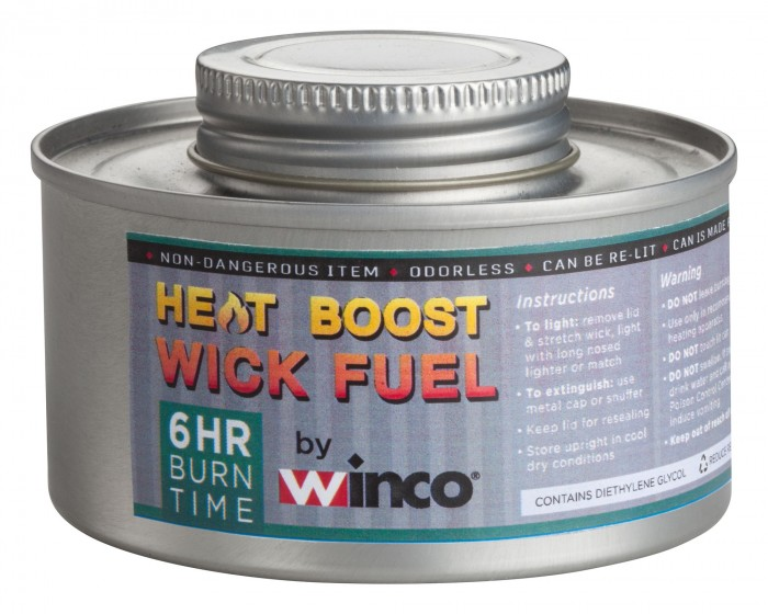 Winco C-F6 6-Hour Wick-Type Chafing Fuel Can with Twist Cap