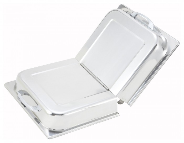 Winco C-HDC Stainless Steel Hinged Dome Cover with Handle