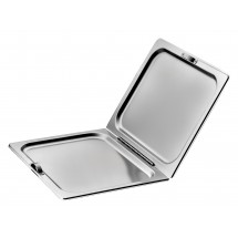Winco C-HFC1 Stainless Steel Full Size Flat Hinged Cover