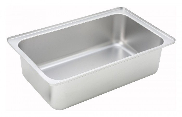 Winco C-WPF6 Full Size Stainless Water Pan 6""