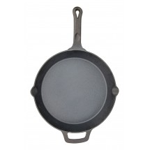 Winco CAST-12 FireIron™ Pre-Seasoned Cast Iron Skillet 12""