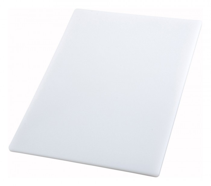 "Winco CB-1218 Plastic Cutting Board 12"" x 18"" x 1/2"""