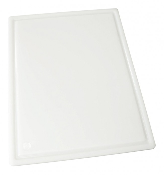 "Winco CBI-1824 Grooved White Cutting Board 18"" x 24"" x 1/2"""