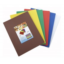 "Winco CBST-1520 Plastic Cutting Boards, Set of 6 Colors 15"" x 20"""