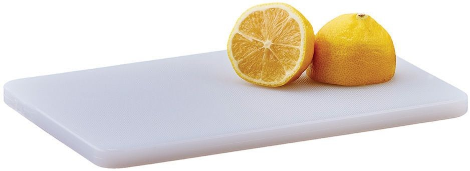 "Winco CBWT-610 White Plastic Cutting Board 6"" x 10"" x 1/2"""