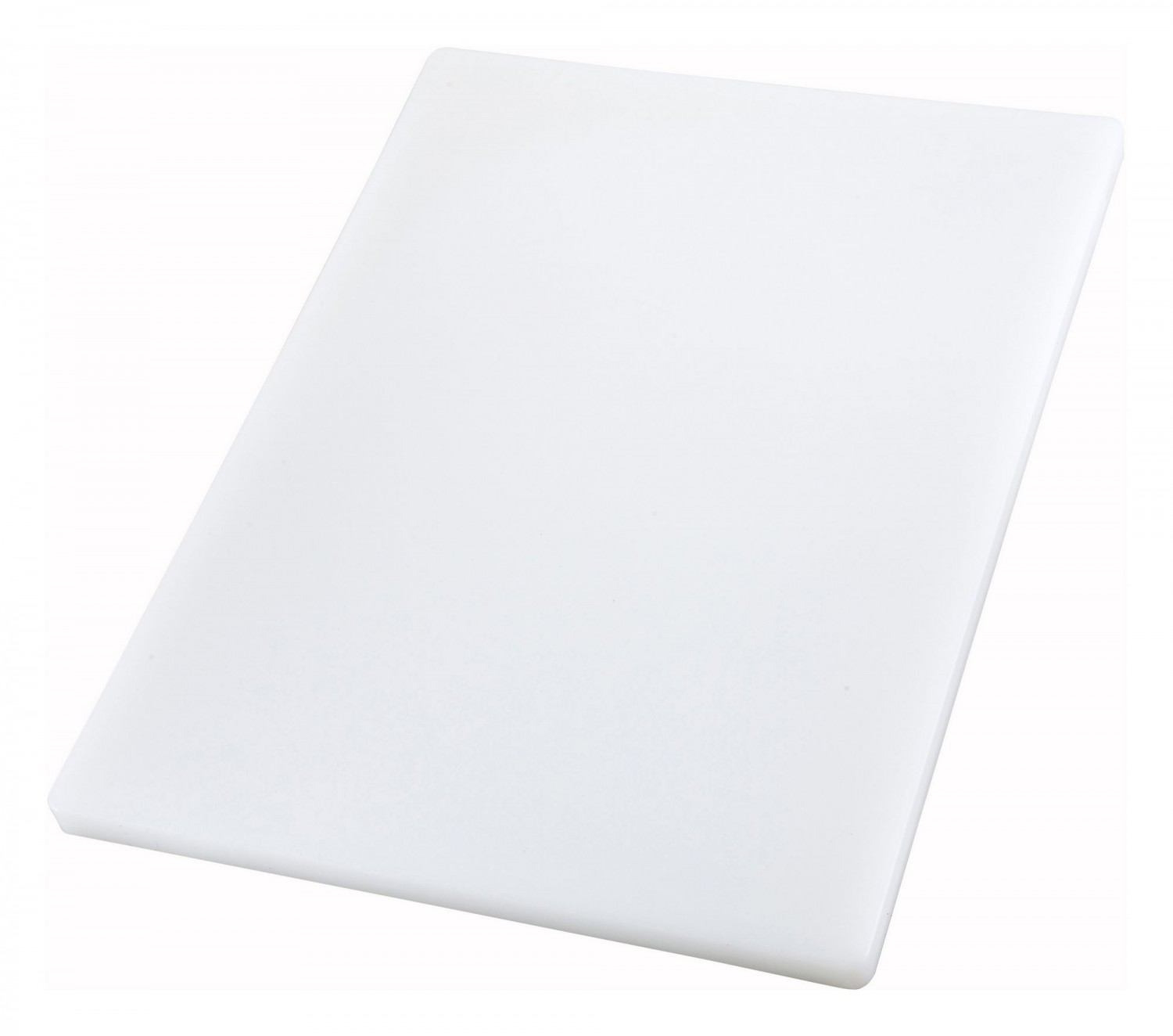 "Winco CBXH-1218 Thick White Plastic Cutting Board 12"" x 18"" x 1"""