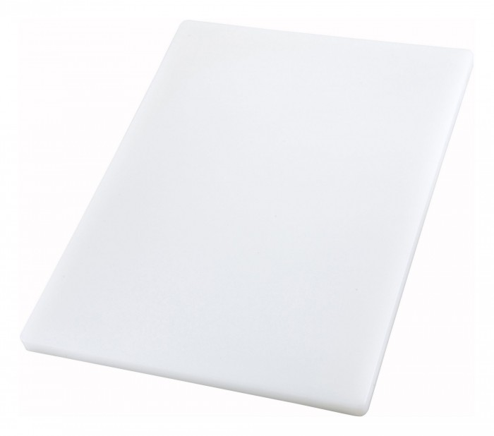 "Winco CBXH-1520 Thick White Plastic Cutting Board 15"" x 20"" x 1"""