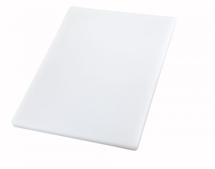 "Winco CBXH-1824 White Plastic Cutting Board 18"" x 24"" x 1"""