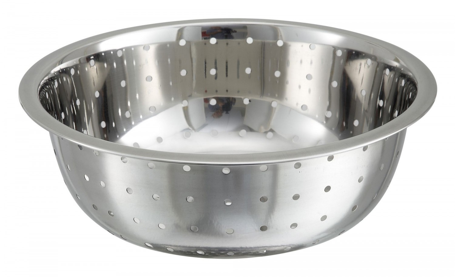 Winco CCOD-11L Stainless Steel Chinese Colander with Large Holes 12.75 Qt.