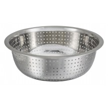 Winco CCOD-11S Stainless Steel Chinese Colander with Small Holes
