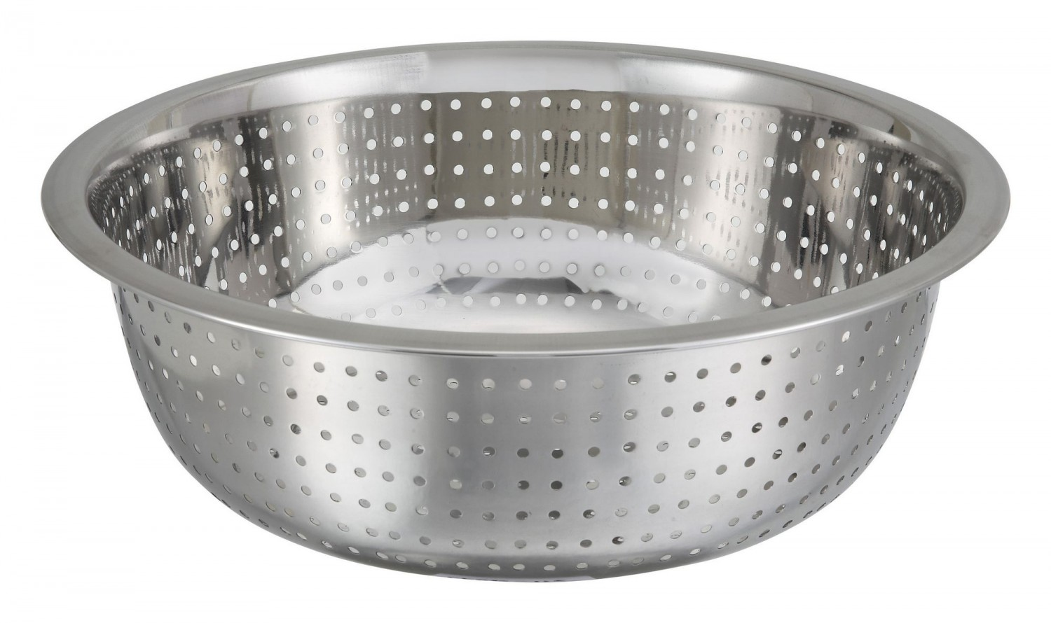 Winco CCOD-11S Stainless Steel Chinese Colander with Small Holes 12.75 Qt.