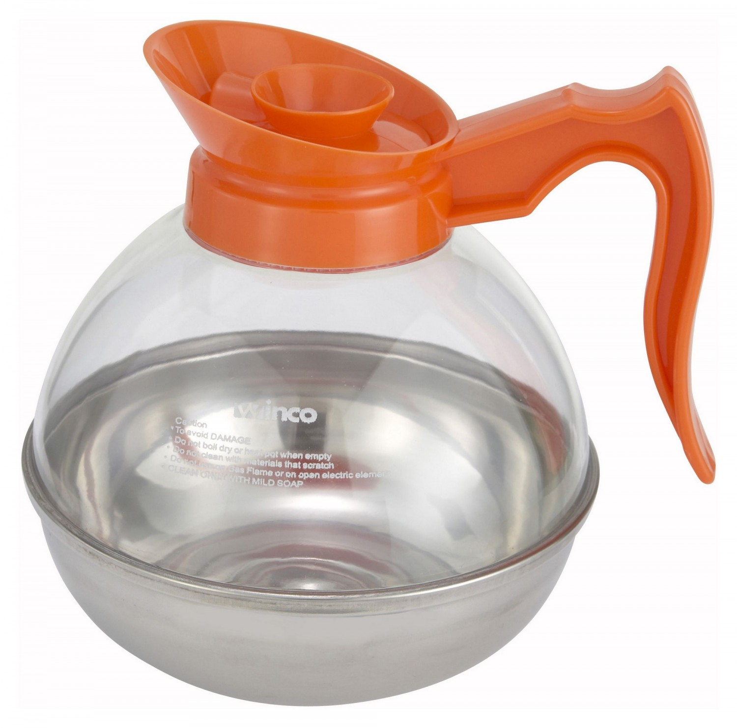 Winco CD-64O Decaf Coffee Decanter 64 oz.