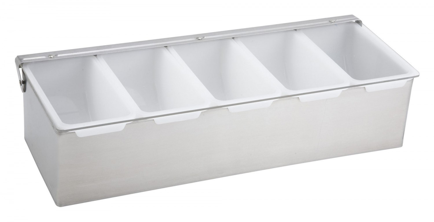Winco CDP-5 5 Compartment Condiment Dispenser