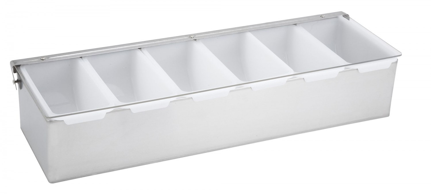 Winco CDP-6 6 Compartment Condiment Dispenser