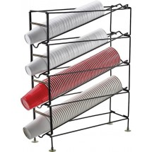 Winco CDR-4 4-Tier Cup Dispensing Rack