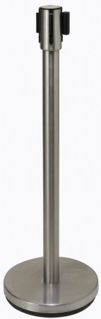 Winco CGS-38S Stainless Steel Crowd Guidance System with Retractable Belt 6-1/2 ft.