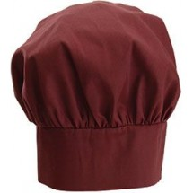 Winco CH-13BG Burgundy Chef Hat with Adjustable Velcro Closure 13""