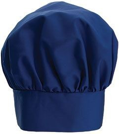 """Winco CH-13BL Blue Chef Hat with Adjustable Velcro Closure 13"""""""