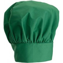 Winco CH-13LG Bright Green Chef Hat with Adjustable Velcro Closure 13""