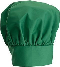 Winco CH-13LG Bright Green Chef Hat with Adjustable Velcro Closure 13