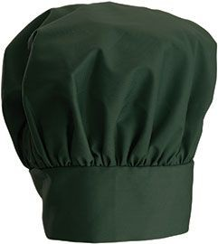 Winco CH-13N Green Chef Hat with Adjustable Velcro Closure 13""