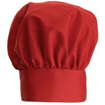 Winco CH-13RD Red Chef Hat with Adjustable Velcro Closure 13""