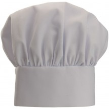 Winco CH-13WH White Chef Hat with Adjustable Velcro Closure 13""