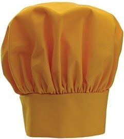"""Winco CH-13YL Yellow Chef Hat with Adjustable Velcro Closure 13"""""""