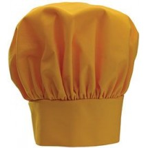 Winco CH-13YL Yellow Chef Hat with Adjustable Velcro Closure 13""