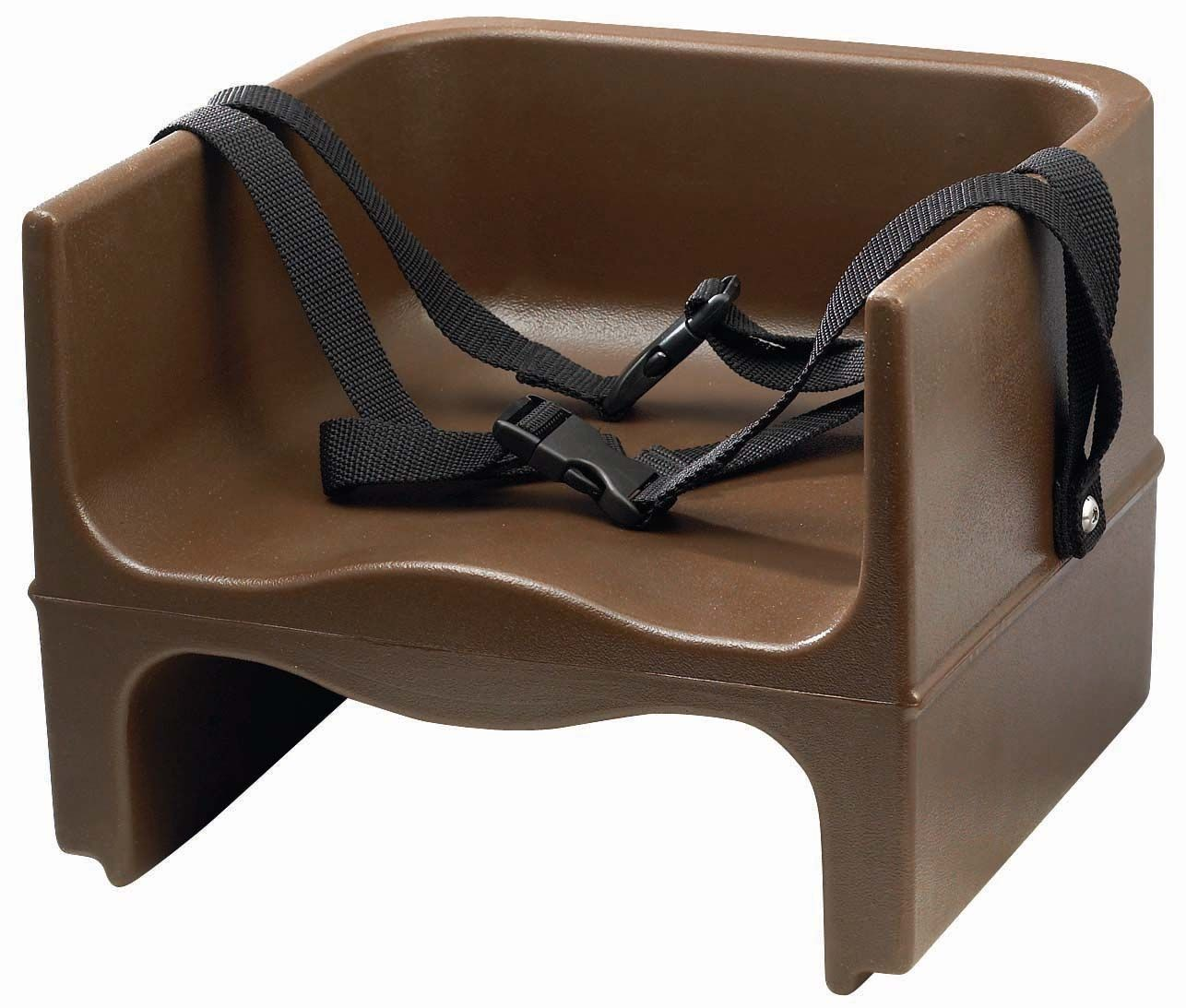 Winco CHB-2P Brown Double Sided Booster Seat with Non-Skid Surface