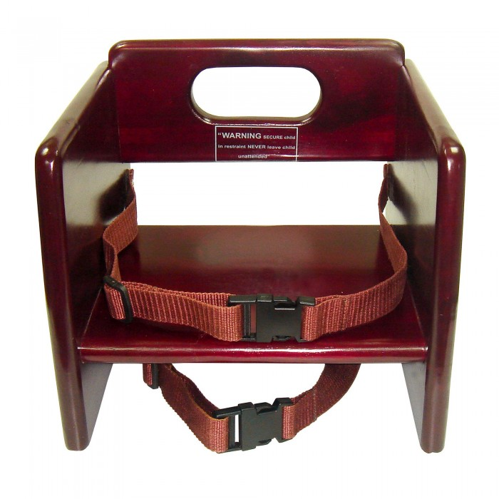 Winco CHB-703 Stacking Mahogany Booster Seat