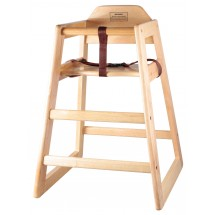 Winco CHH-101 Unassembled Stacking Wood High-Chair with Natural Finish