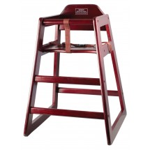 Winco CHH-103 Mahogany Finish Wood High Chair , Unassembled