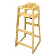 "Winco CHH-601 Natural Wood Pub Height High Chair 19"" x 20"" x 41"""