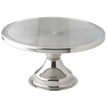 Winco CKS-13 Round Stainless Steel Cake Stand 13""