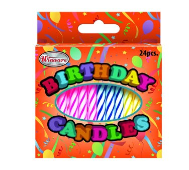 Winco CLB 24 Birthday Candles Assorted Fancy Colors Pcs 262365 Medium