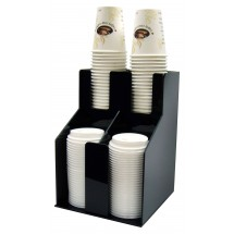 Winco CLO-2D 2 Tiers 2 Stacks Cup and Lid Organizer