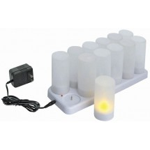 Winco CLR-12S Rechargeable Tealights with Plastic Cup