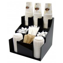 Winco CLSO-3T 3 Tiers 3 Stacks Cup and Lid Organizers