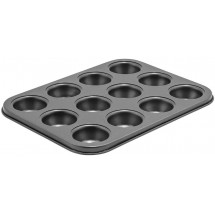 Winco CMF-12M 12 Cup Non-Stick Carbon Steel Mini Muffin Pan