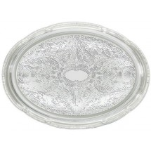"Winco CMT-1318 Oval Chrome-Plated Serving Tray 18-3/4"" x 13"""