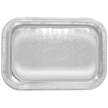 "Winco CMT-1812 Rectangular Chrome-Plated Serving Tray 18"" x 12-1/2"""