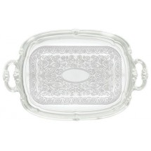 "Winco CMT-1912 Oblong Serving Tray with Integrated Handle 19-1/2"" x 12-1/2"""